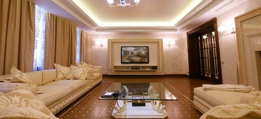 Интерьер гостиной частного дома фото